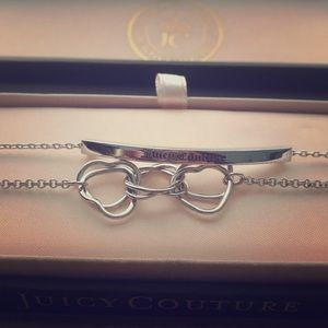 BRAND NEW Juicy Couture triple heart bracelet.